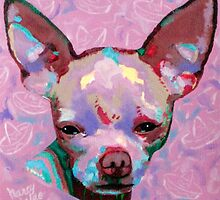 In the Pink Chihuahua with Sombreros  by Nancy Daleo