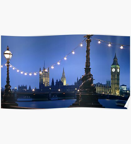 Big Ben London at Dusk Poster