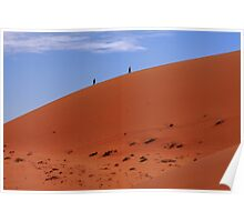 """Red Sand Dunes"" Namibia,  West Africa Poster"
