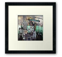 New York City [green] Framed Print
