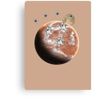 Little monsters on Mars  Canvas Print