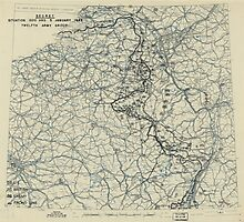 January 5 1945 World War II HQ Twelfth Army Group situation map Photographic Print
