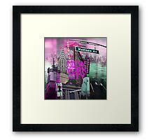 New York City [pink] Framed Print
