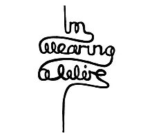 wearing a wire Photographic Print