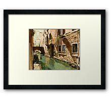 Venetian Solar Street Framed Print