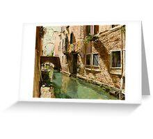 Venetian Solar Street Greeting Card