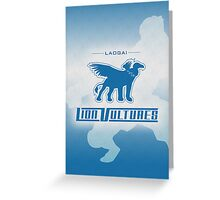 Laogai Lion Vultures Greeting Card