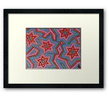 Hexagramic Copper Framed Print