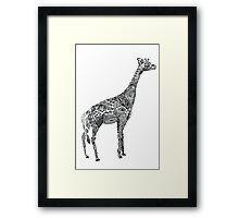 Designer Giraffe Framed Print