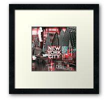New York City [red] Framed Print