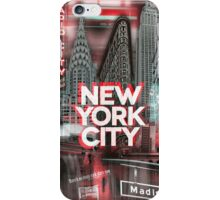New York City [red] iPhone Case/Skin