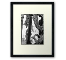 HARP ENTHUSIAT GREETING CARD Framed Print