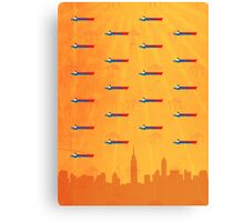 Superman pattern II Canvas Print