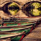 Boats on nidd by John-Adams