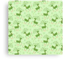 Cute Deer Pattern Canvas Print