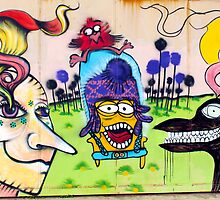 Street Art Valparaiso Chile 3 by Kurt  Van Wagner