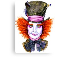 Mad Hatter Watercolor Canvas Print