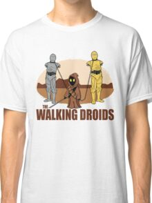 The Walking Droids with Text Classic T-Shirt