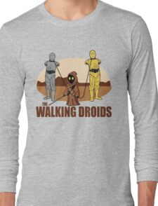 The Walking Droids with Text Long Sleeve T-Shirt