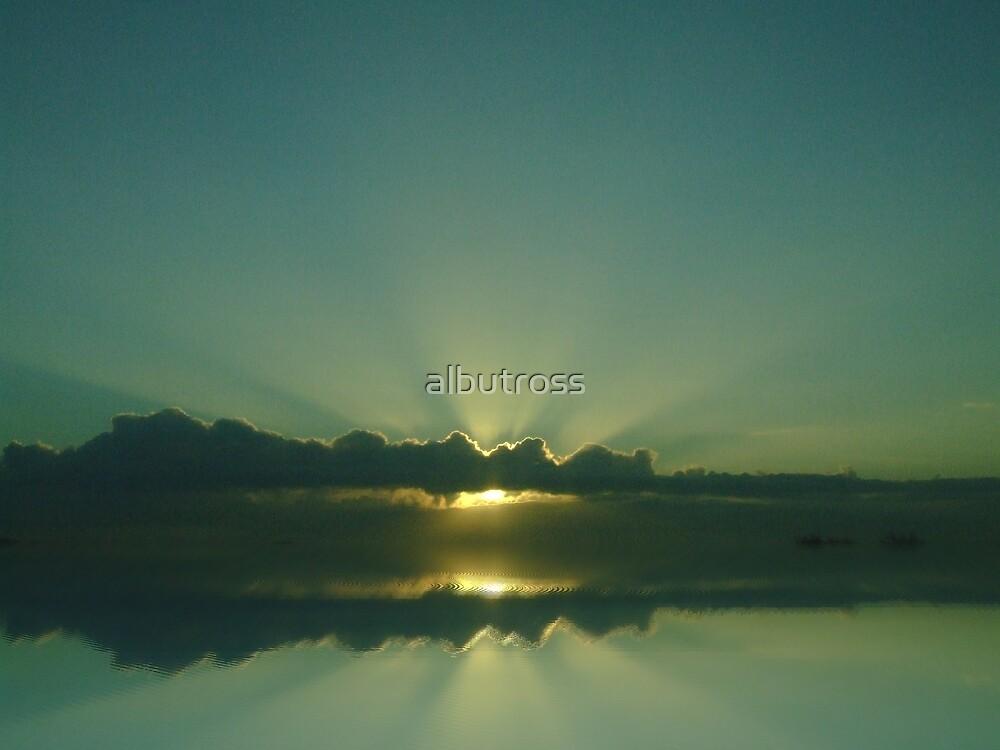 The Sunrays were reflected. by albutross