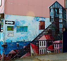 Street Art Valparaiso Chile 13 by Kurt  Van Wagner