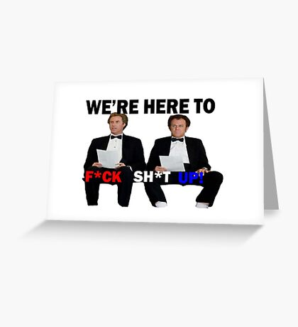 Step Brothers Tuxedos Greeting Card