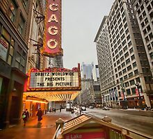 The iconic Chicago theatre sign by Sven Brogren