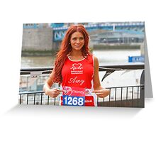 Amy Childs from the only way is Essex programme Greeting Card