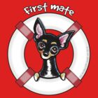 Chihuahua Smooth Black/Tan :: First Mate by offleashart