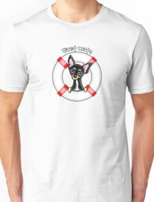 Chihuahua Smooth Black/Tan :: First Mate Unisex T-Shirt