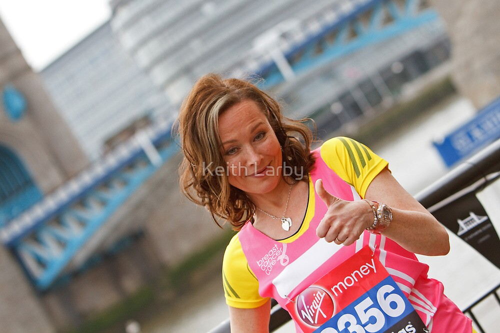 Amanda Mealing at Tower Bridge by Keith Larby