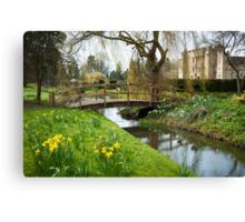 Heaver Castle in Springtime Canvas Print