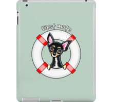 Chihuahua Smooth Black/Tan :: First Mate iPad Case/Skin