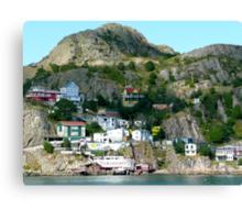 Kaleidoscopic Cliffside Town Canvas Print