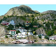 Kaleidoscopic Cliffside Town Photographic Print