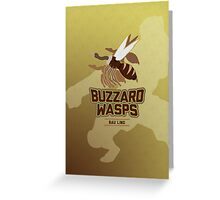 Bau Ling Buzzard Wasps Greeting Card