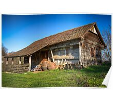 Old and abandoned wooden house Poster