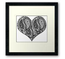 Paisley Yin Yang Heart Framed Print