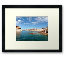 Seascape in Blue and Green Framed Print