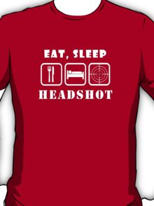 Eat, Sleep Headshot T-Shirt