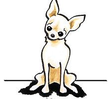 Cream Chihuahua Sit Pretty by offleashart