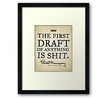 Hemingway First Draft Framed Print