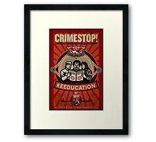 Crimestop 1984 Propaganda Poster Framed Print