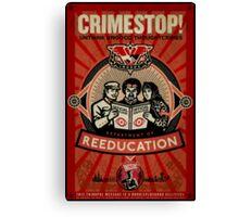 Crimestop 1984 Propaganda Poster Canvas Print