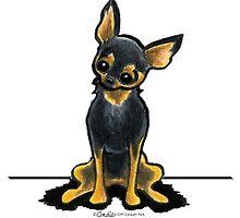 Black/Tan Chihuahua Sit Pretty by offleashart