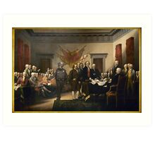 Declaration Of Independence Gas Art Print