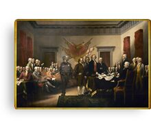 Declaration Of Independence Gas Canvas Print