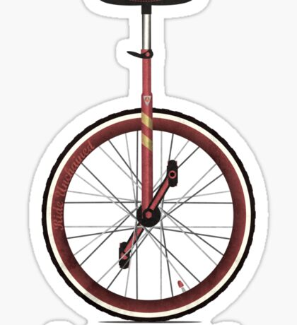 Unicycle Sticker