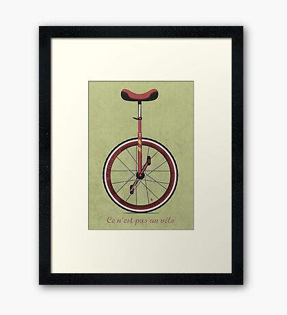 Unicycle Framed Print