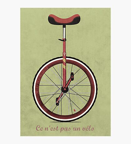 Unicycle Photographic Print